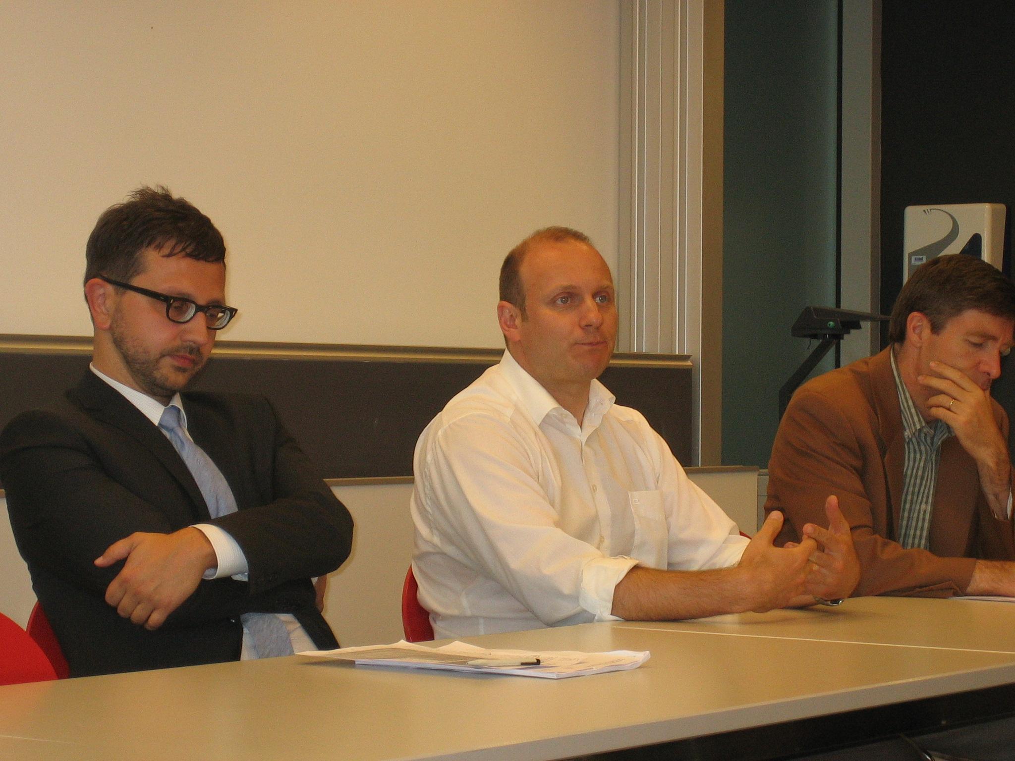 Marco Salvi, François Yenny et Philippe Thalmann