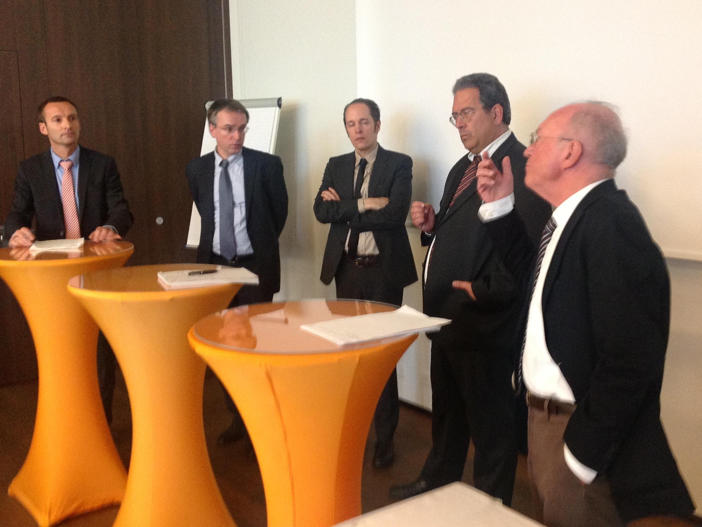 Urs Meister, Andreas Heinemann, Marc Amstutz, Peter Balastèr und Roger Zäch (von links nach rechts)