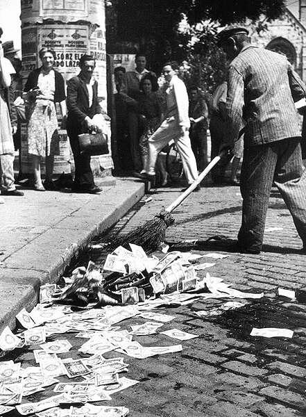 Eine extreme Folge falscher Geldpolitik: Hyperinflation in Ungarn 1946 (Quelle: Wikimedia Commons)
