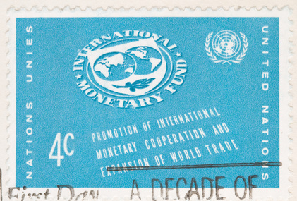Eine IMF-Briefmarke aus dem Jahr 1961