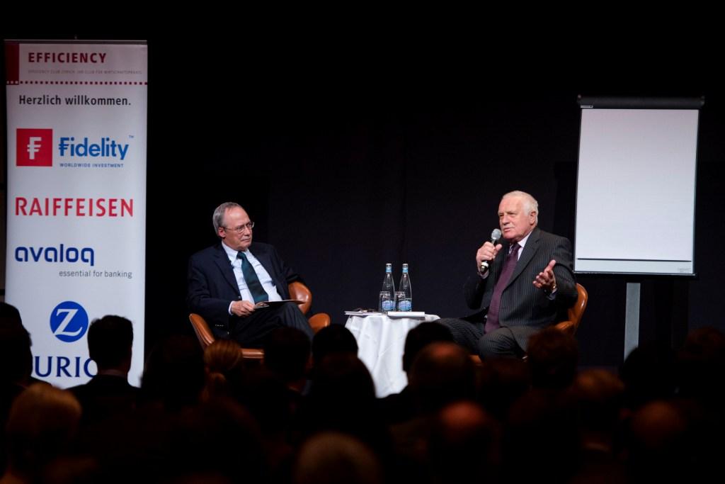 """Vaclav Klaus und Gerhard Schwarz im Gespräch über das Buch """"Europa braucht Freiheit"""" (Bild: (Valeriano Di Domenico/freshfocus)"""