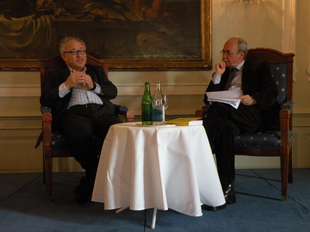 David Friedman und Gerhard Schwarz im Gespräch