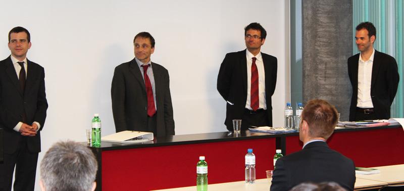Avenir Suisse's 7th Annual Workshop on Competition Policy: Johannes Reich, Oliver Stehmann, Rudolf Minsch und Matthias Oesch (from left to right)