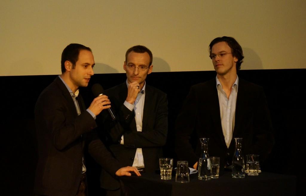 Vergibt die Schweiz mit dem Verzicht auf Atomstrom eine grosse Chance? von links: Christian Wasserfallen (FDP), Urs Meister (Avenir Suisse) und Bastien Girod (Grüne) im Gespräch.