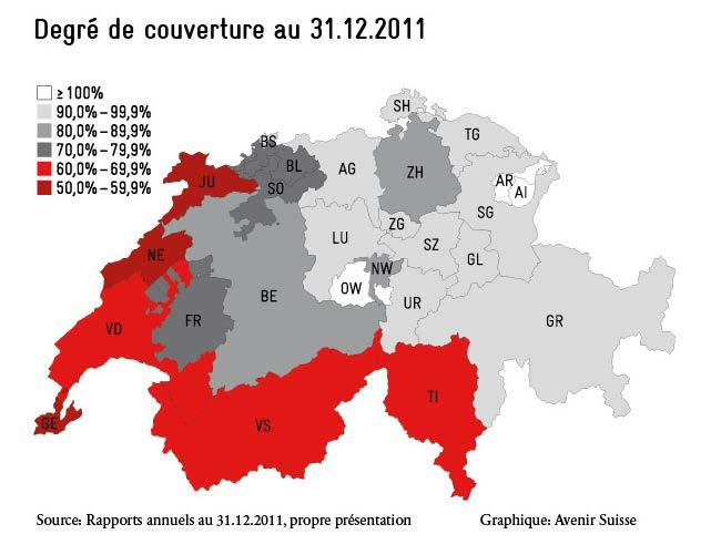 Avenir Suisse Schweiz Karte Grafik