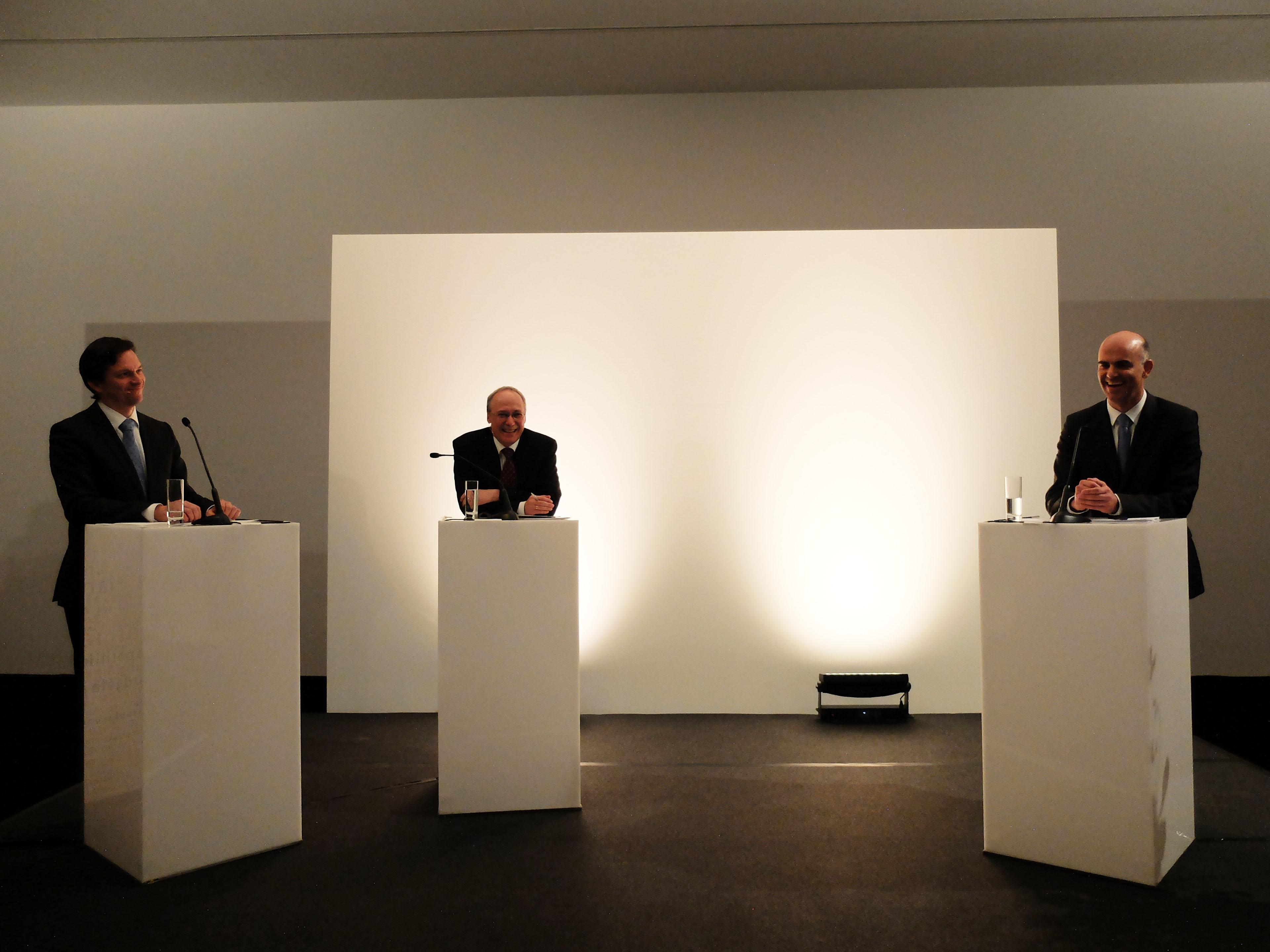 Jérôme Cosandey, Gerhard Schwarz et Alain Berset