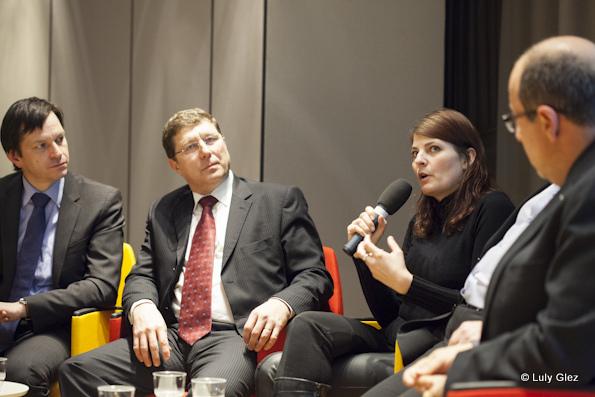 Jérôme Cosandey, Mauro Poggia, Laura Venchiarutti Tocmacov, François Jung et Olivier Ghibellini (de gauche à droite)