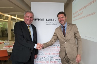 Landeshauptmann Hermann Schützenhöfer und Peter Grünenfelder (Bild: Mario Heller)